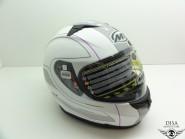 MT Integral Helm Blade Raceline Weiss Pink Lila Gr. XXL