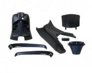 Piaggio Vespa S LX Verkleidungssatz Fender Front Seiten Verkleidung Metallic Blau NEU *