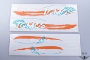 Tomos Standard Aufkleber Sticker Set Orange / Grün NEU *