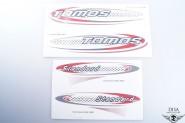 Tomos Standard Aufkleber Sticker Set Oval Schwarz Weiß NEU *