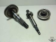 Baotian Benzhou China 50 ccm 2 Takt (Typ: QMB 40-4) Getriebe Ritzel Welle