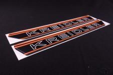 Aufkleber Tankaufkleber Sticker Satz orange schwarz für Kreidler Florett NEU *
