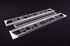 Aufkleber Tankaufkleber Sticker Satz schwarz weiss für Kreidler Florett NEU *