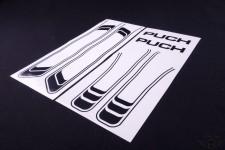 Aufkleber Satz schwarz Tank Rahmen Sticker Tankdecor für Puch Maxi NEU *