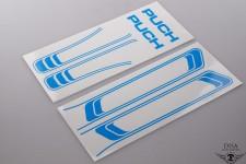 Aufkleber Satz blau Tank Rahmen Sticker Tankdecor für Puch Maxi NEU *