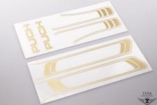 Aufkleber Satz goldfarben Tank Rahmen Sticker Tankdecor für Puch Maxi NEU *