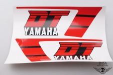 Aufkleber Sticker Dekor Tankaufkleber Rot Schwarz für Yamaha DT50 DT 50 MX NEU *