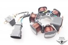 Lichtmaschine komplett, ovaler Stecker Piaggio NRG Power Gilera Runner uvw NEU *