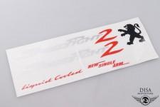 Aufkleber Seitenverkleidung Unterboden Sicker für Peugeot 2 LC NEU *