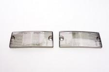 Blinkergläser vorne Schwarz 2 Stück Blinkerglas Set für Piaggio Vespa PX NEU *
