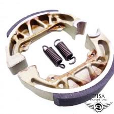 Bremsbacken 100x20 Bremsbeläge ohne Nut für Piaggio NRG MC2 NEU *