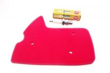 Luftfilter + Zündkerze NGK BR7HS für Peugeot Ludix 1 2 AC Snake Trend NEU *