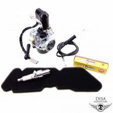17,5MM Vergaser + Luftfilter + Zündkerze für Piaggio Piaggio TPH 50 NEU *