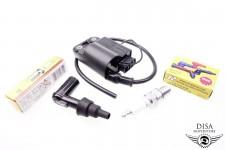 CDI Zündspule + Zündkerze B9ES + Kerzenstecker Piaggio Zip SSL Quartz 50 NEU *