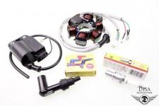 Lichtmaschine + CDI Zündspule + Zündkerze + Stecker Piaggio ZIP SSL RST FR NEU *