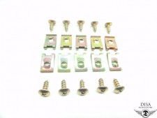 10 x Blechmuttern Verkleidung Schrauben M5 Gewinde Piaggio NRG TPH Zip NEU *