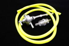 Benzinhahn + Benzinfilter + Benzinschlauch gelb Piaggio SKR Zip SSL NEU *