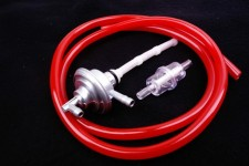 Benzinhahn + Benzinfilter + Benzinschlauch rot Piaggio SKR Zip SSL NEU *