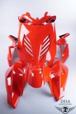 Yamaha Aerox Verkleidung Satz Set Rot Front Seiten Fender Lenker NEU *