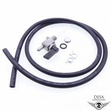 Benzinhahn und Benzinschlauch Schwarz mit Schellen für Peugeot 103 NEU *