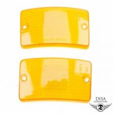 Blinkergläser vorne Orange 2 Stück Blinkerglas Set für Piaggio Vespa PK NEU *