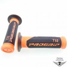 Griff Gummi Satz Lenkergriffgummis 732 orange für Peugeot Kisbee NEU *
