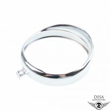 130 mm Scheinwerfer Lampen Chrom Ring Zündapp Kreidler KKR NEU *