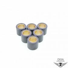 Vario Gewichte Rollen - 6 Stück - 19x17 - 7,3 Gramm Piaggio TPH 125 SR NEU *