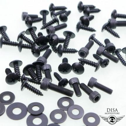 MBK Nitro 50x Schrauben Satz Verkleidung 5 x 12mm Schwarz Yamaha Aerox